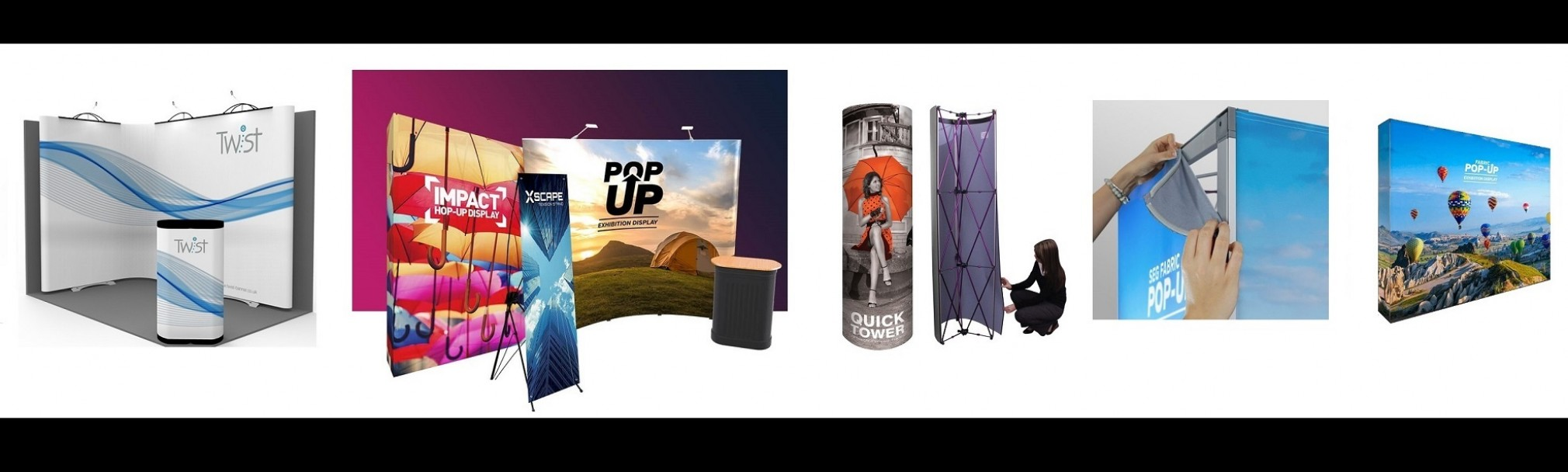 Slideshow Printed Banners Fabric And Pop Up 1