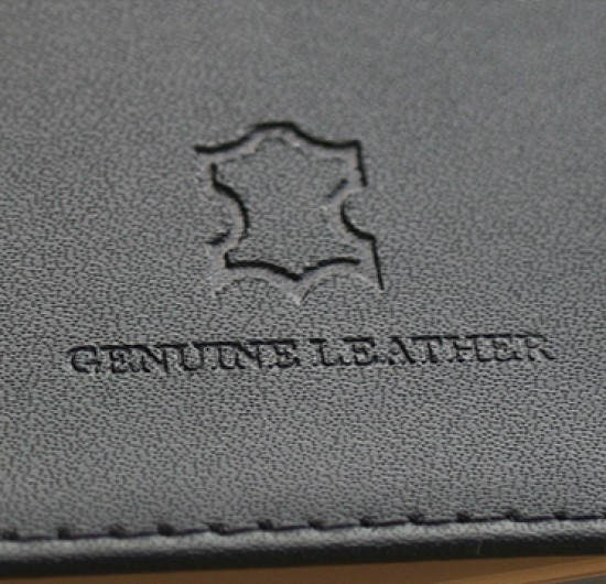 DE-BOSSED LEATHER