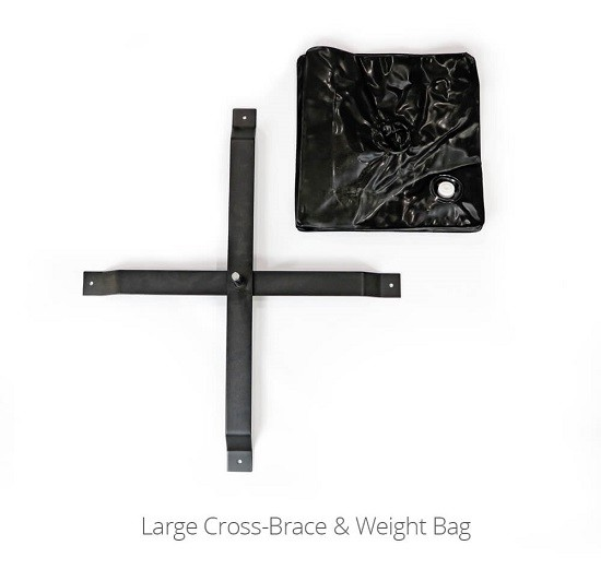 CROSS BRACE AND WEIGHT BAG