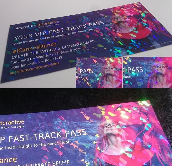 HOLOGRAPHIC INVITES