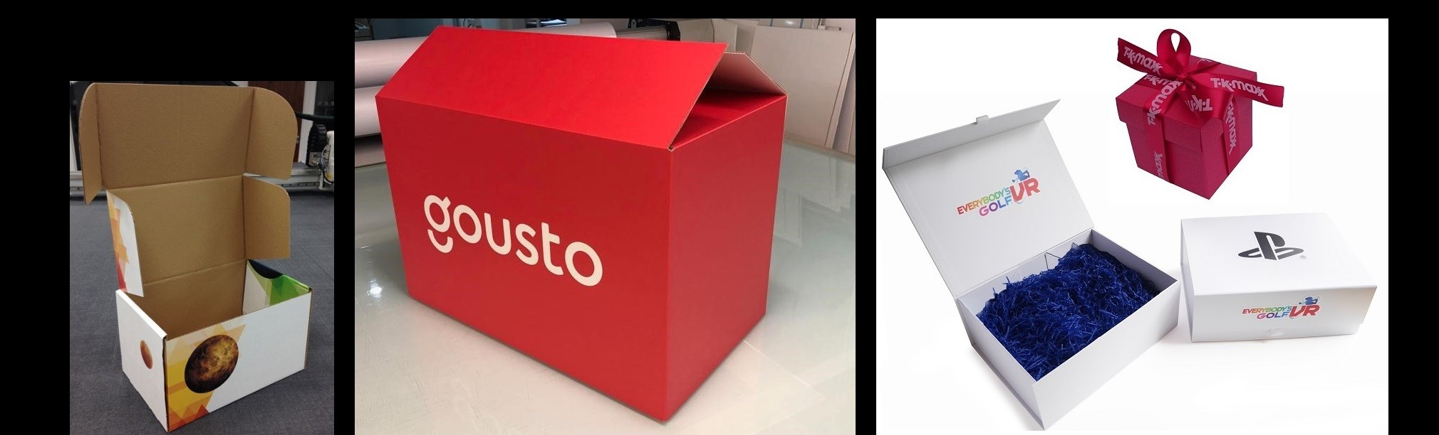 Slideshow Gousto Boxes Printed Cardboard